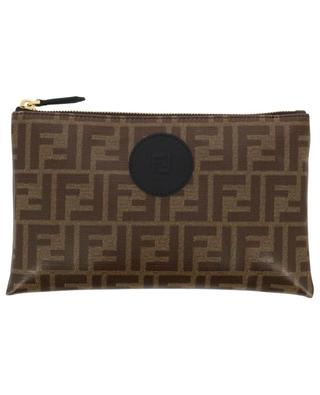 Medium FF print fabric pouch FENDI