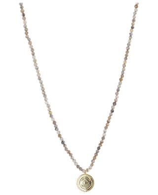 Halskette aus Steinen mit Anhänger MOON C° PARIS