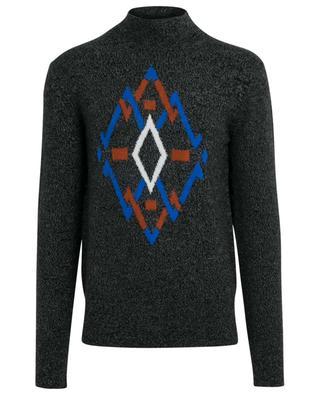 Jacquard-Pullover mit hohem Kragen Graphic Knit JOSEPH
