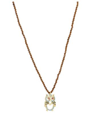 Stone necklace with owl pendant MOON C° PARIS