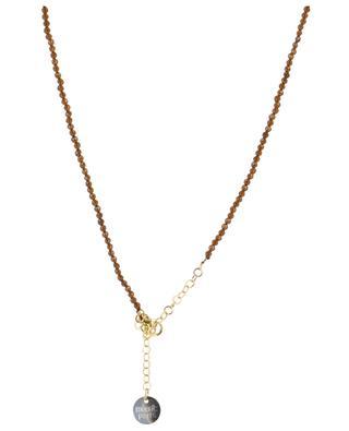 Halskette aus Steinen mit Eulenanhänger MOON C° PARIS