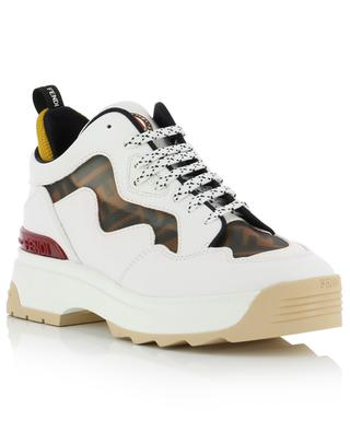 T-Rex leather sneakers with inlay FENDI
