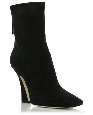FFreedom heeled nubuck ankle boots FENDI