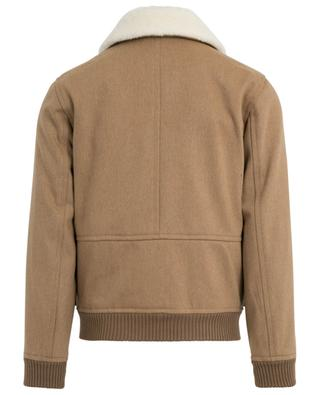 Bronze wool twill bomber jacket with shearling A.P.C.