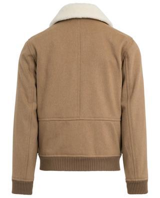 Blouson en sergé de laine détail peau lainée Bronze A.P.C.
