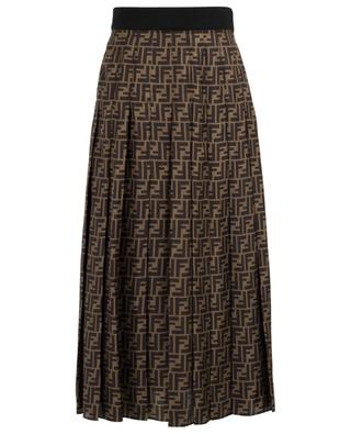 FF pleated twill midi skirt FENDI