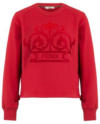 Sweat-shirt en coton avec broderie et rubans FENDI