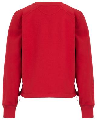 Cotton sweatshirt with embroideries and ribbons FENDI