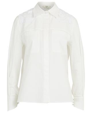 Hemd aus Taft mit Bortenstickereien FENDI