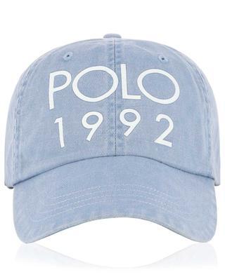 Montauk denim and leather baseball cap POLO RALPH LAUREN