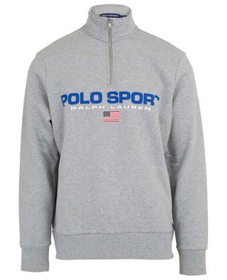 Sweat-shirt col montant en coton mélangé POLO RALPH LAUREN