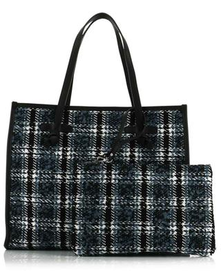 Marcella Medium leather and tweed tote bag GIANNI CHIARINI