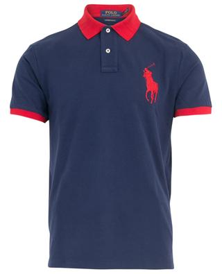 Macro Logo bicolour slim fit polo shirt POLO RALPH LAUREN