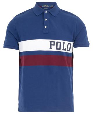 Slim-Fit-Polohemd mit zwei Streifen und Logoprint POLO RALPH LAUREN
