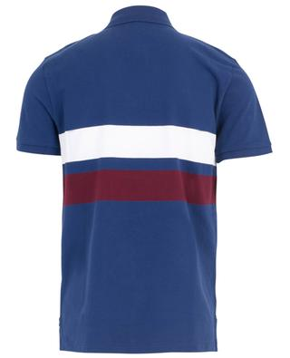 Logo print slim fit polo shirt with two stripes POLO RALPH LAUREN