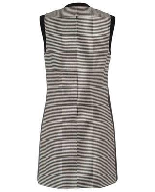 Houndstooth print wool blend sleeveless dress BARBARA BUI