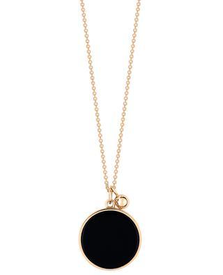 Halskette aus Roségold und Onyx Ever GINETTE NY