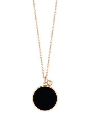 Ever rose gold and onyx necklace GINETTE NY