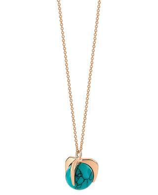 Halskette aus Roségold und Türkis Maria GINETTE NY