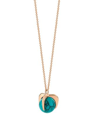 Maria rose gold and turquoise necklace GINETTE NY