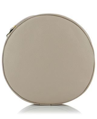 Tamburello grained leather circle crossbody bag GIANNI CHIARINI