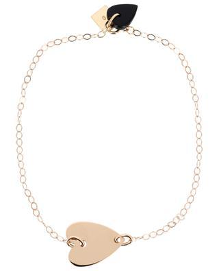 Angèle rose gold and onyx bracelet GINETTE NY
