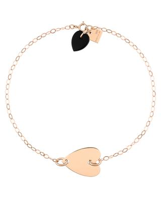 Angèle rose gold and onyx bracelet GINETTE NY