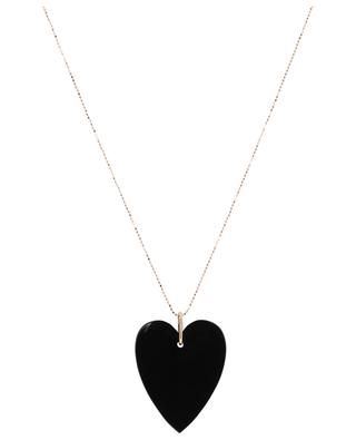 Angèle Jumbo rose gold and onyx necklace GINETTE NY