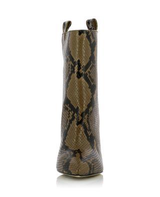 Bottines à bout pointu effet python 8 cm PARIS TEXAS