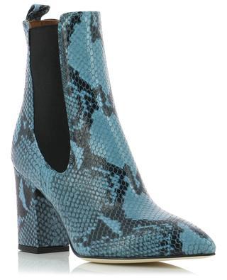 Chelsea booties in snakeskin embossed leather with heels PARIS TEXAS
