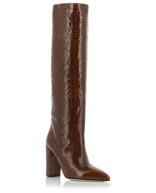 Heeled croc effect leather boots PARIS TEXAS