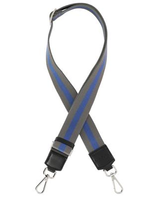 One Stripe striped leather and fabric shoulder strap GIANNI CHIARINI