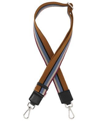 5-Tone striped leather and fabric shoulder strap GIANNI CHIARINI