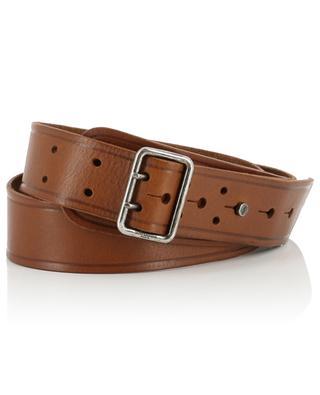 Double-buckle leather belt SAINT LAURENT PARIS
