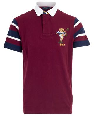 Cotton piqué polo shirt with embroidered bear POLO RALPH LAUREN