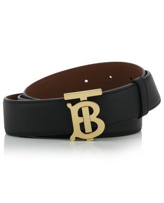 Monogram Motif reversible belt with golden buckle BURBERRY