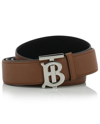 Monogram Motif reversible beld with silver buckle BURBERRY