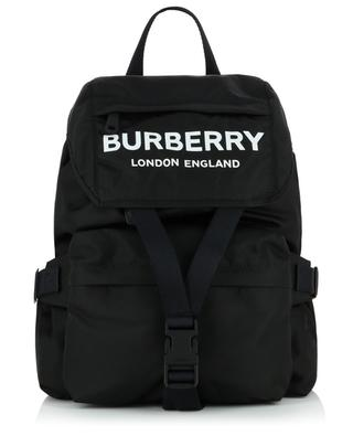 Wilfin S nylon backpack with logo print BURBERRY