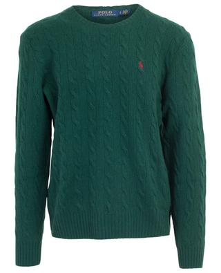 Wool and cashmere cable knit round neck jumper POLO RALPH LAUREN