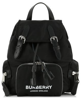 Rucksack aus Nylon und Leder mit Logoprint Small Rucksack BURBERRY
