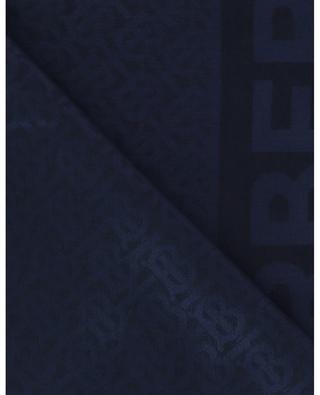 Halstuch aus Seide und Wolle mit Monogramm BURBERRY