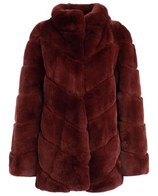 Scarlett rabbit fur jacket YVES SALOMON