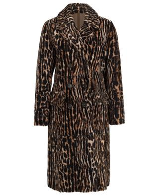 Mantel aus Lacon-Lammpelz mit Print Ocelot YVES SALOMON