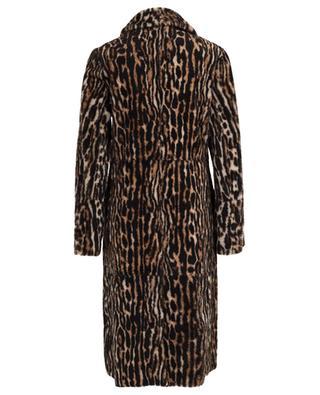 Ocelot print lacon lamb shearling coat YVES SALOMON