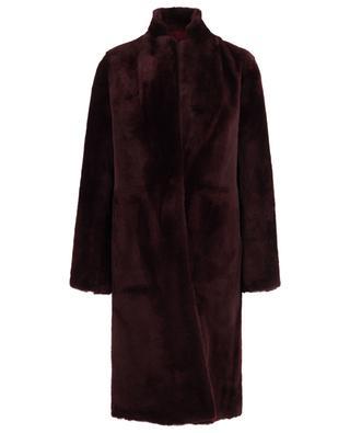 Straight shearling coat YVES SALOMON