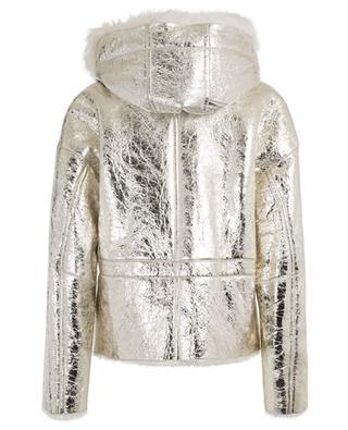 Light Gold metallic merino shearling jacket YVES SALOMON