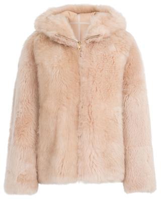 Douceur hooded merino shearling jacket YVES SALOMON