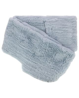 Rabbit fur scarf with hood and pockets YVES SALOMON