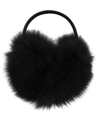 Fox fur and leather earmuffs YVES SALOMON