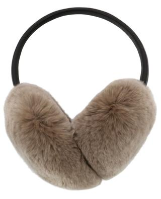 Rabbit fur and leather earmuffs YVES SALOMON